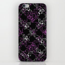 Dark Vintage Lace Pattern iPhone Skin