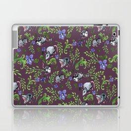 Opossum, Fern, & Violet Print Laptop & iPad Skin