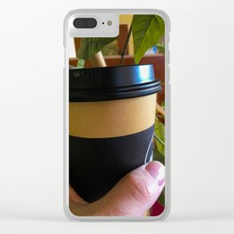 Takeaway Coffee Clear iPhone Case