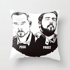 Simon Pegg & Nick Frost Throw Pillow