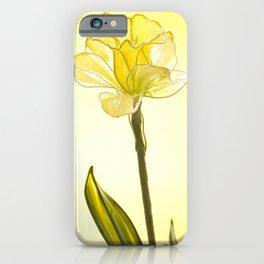 Yellow Botanical Summer Blossom iPhone Case