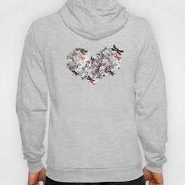 Dragonfly Lullaby in Marble and Rose Gold Hoody