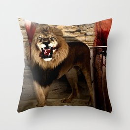 For The Glory of Blood Throw Pillow