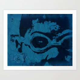 Blue Speedo Art Print