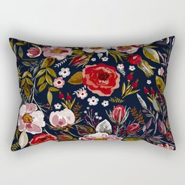 Vintage & Shabby Chic - Country Floral Rectangular Pillow