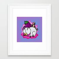 puppycat Framed Art Prints featuring A Chubby Puppycat by Kristin Frenzel