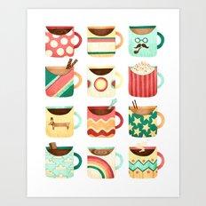Coffee Coffee Coffee Coffee Coffee Art Print