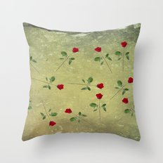 A Dozen Red Roses Throw Pillow
