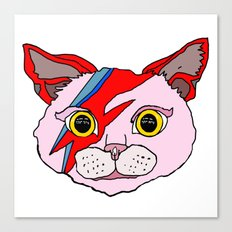 Bowie Cat Head Canvas Print