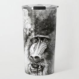 baboon monkey wsbw Travel Mug