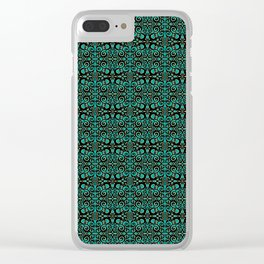 Project 494 | Filigre on Teal Green Clear iPhone Case