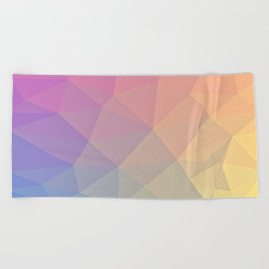 Abstract Polygons Beach Towel