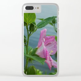 PINK MALLOW Clear iPhone Case