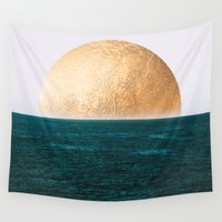 android Wall Tapestries featuring Gold Sunset by Jenna Davis Designs