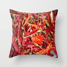 Sundried Chili Peppers Throw Pillow
