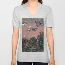 Night Garden (2) Unisex V-Neck