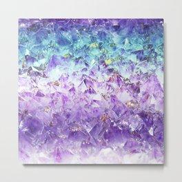 Alexandrite crystal rough cut Metal Print
