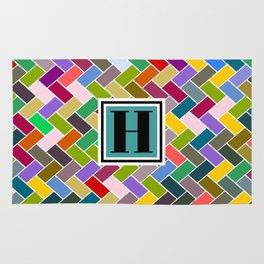 H Monogram Rug
