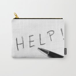 Pen Help Black White Carry-All Pouch