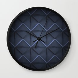 dark blue grid Wall Clock