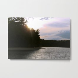 Sunset at Concord's Walden Pond 2 Metal Print