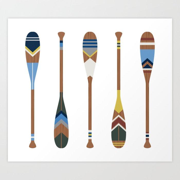 Painted Oars Kunstdrucke