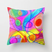 carnival Throw Pillows featuring Carnival by Dion Dior