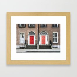 Doors of Dublin. Framed Art Print