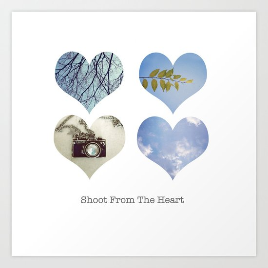 Shoot From the Heart Art Print