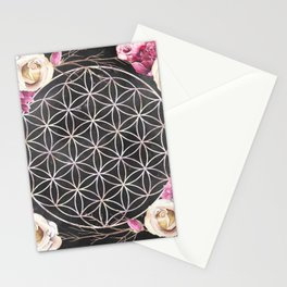 Flower of Life Rose Garden Stationery Cards