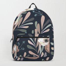 Anemones & Olives blue Backpack
