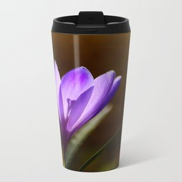 Bright Purple Spring Crocus Travel Mug