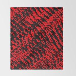Red sublime metal pattern Throw Blanket