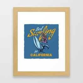 Best Surfing in California Framed Art Print