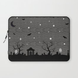Spoopy Cemetery Print Laptop Sleeve