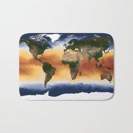 A Portrait of Global Sea Surface Temperatures Bath Mat