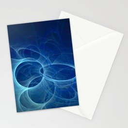 abstract fractal background Stationery Cards