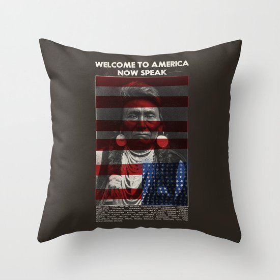 Welcome to America Throw Pillow by Landon Sheely Society6