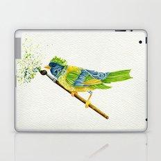 Feathers & Flecks (Canvas Background Edition) Laptop & iPad Skin