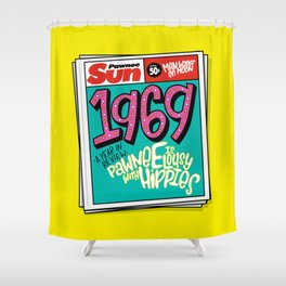 Lousy With Hippies (PAR102) Shower Curtain