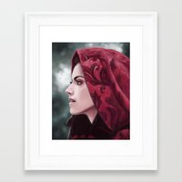 ruby Framed Art Prints featuring Ruby by Svenja Gosen