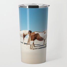 Summer Shore Horses Travel Mug