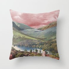 Highland Dusk Throw Pillow