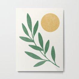 Leaf Sun 1 Metal Print