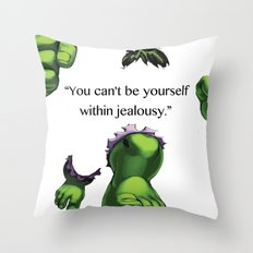 jealousy Throw Pillow