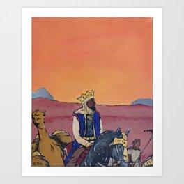 KINGS BEFORE SLAVES Art Print