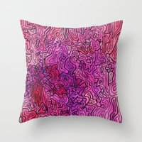 las vegas Throw Pillows featuring Las Vegas by Andrea Gingerich
