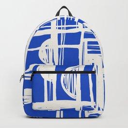 Blue Retro Geo Backpack
