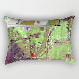 Green, Gold and Purple Boundaries Rectangular Pillow