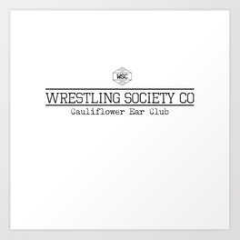 Cauliflower Ear Club Art Print